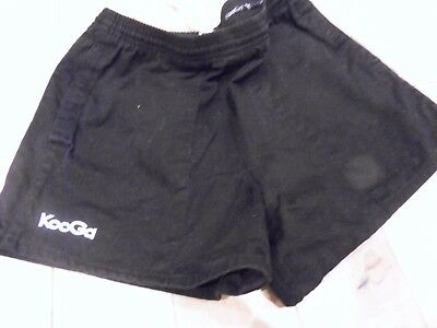 """Kooga Mens Black Rugby Shorts 32"""" Small Nice Condition"""