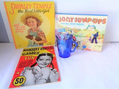 1938 Shirley Temple The Real Little Girl Book Margaret O'Brien Jolly Jump-Ups