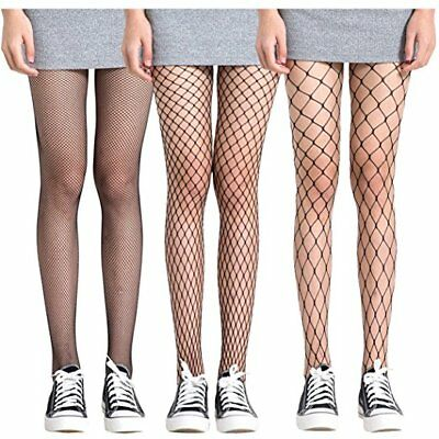 Women Fishnet Stockings Hollow Stretchy Tights Seamless Sexy Net Pantyhose BLACK