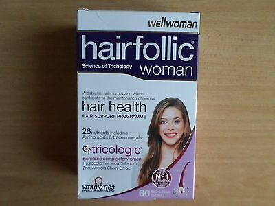 Vitabiotics Wellwoman HAIRFOLLIC WOMAN Hair Growth Tablets 60 Tablets