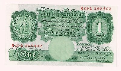 Peppiatt £1 banknote unused