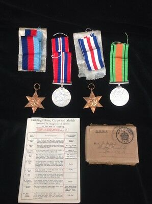 WW2 Group Of 4 Medals, 1939-1945 Star, France & Germany Star, War And Defence