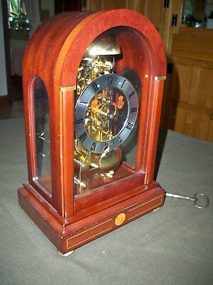 Sewills of Liverpool Chiming Skeleton Mantle Clock in Mahogany Case