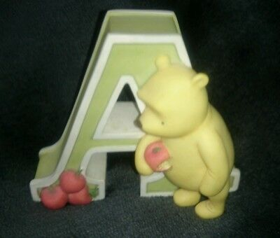 """* Classic Pooh Winnie The Pooh Alphabet Letter """"a"""" Wall Hanging Disney Michel *"""