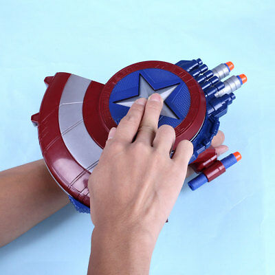 AVENGERS Captain America Shield Nerf Gun Crossbow Darts Soft Foam Toy for Kids