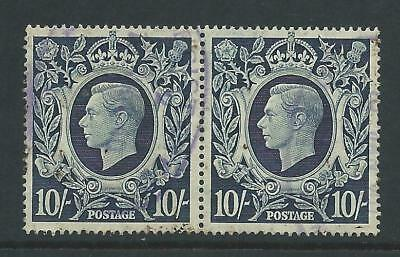 SG478 Nice pair of fine used GVI 10/- stamps.