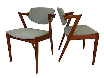 Pair of 1960s Teak Dining Chairs by Kai Kristiansen Mid Century Danish Modern