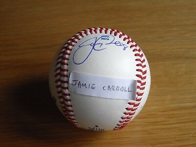 Signed Baseball Ball (Jamie Carroll), Indians, Twins and Nationals