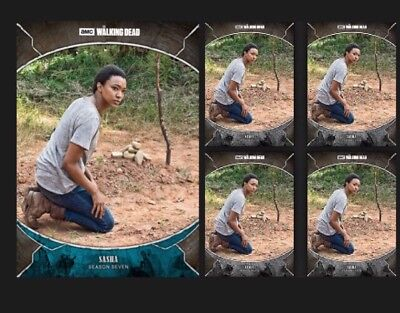 SASHA WILLIAMS-TRAGEDIES-WAVE 2-BLUE +4x GRAY-TOPPS WALKING DEAD TRADER DIGITAL