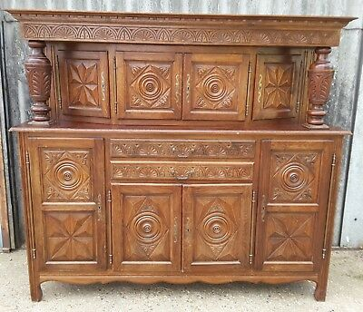 French Antique Buffet Cupboard Sideboard Breton Kitchen Furniture FREE DELIVERY*