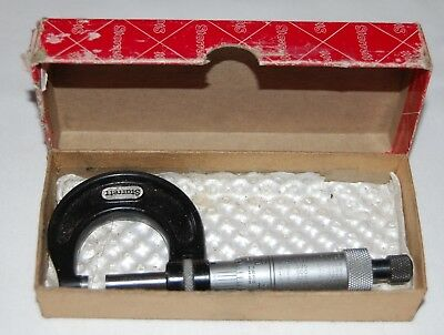 "Starrett Outside Micrometer No 436-1, 0-1"",  .001"" Graduation Original Box USA"