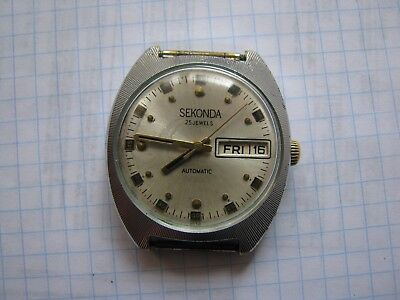 Watch SECONDA  USSR S2427 Automatic  working.