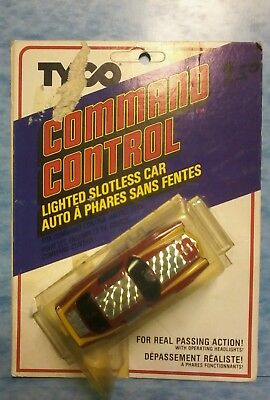 Tyco Command Control Lighted Slotless Red Camaro NOS