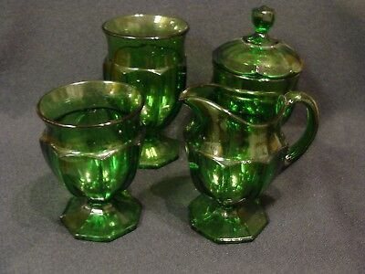 EAPG  Unknown Green 4 Pc. Set