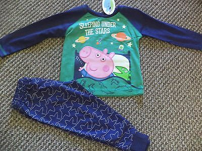 Boys Exstore George Pig Under the Stars Pyjamas size 4 - 5 years - New with Tags