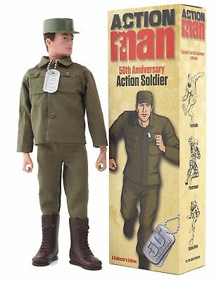 NEW ACTION MAN 50th Anniversary Soldier Boxed RRP £39.99 (Brand New Stock!)
