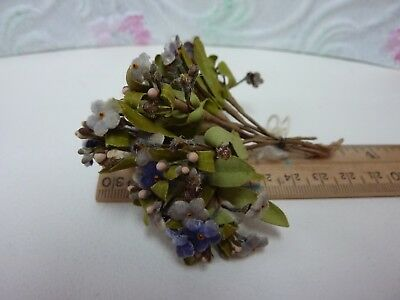 Vintage Millinery FLOWER small FORGET ME NOTS vintage hat decor hand wrapped S1