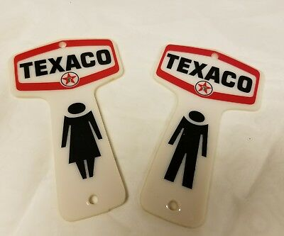 texaco restroom key fob reproduction plastic, one sided, great for actual use
