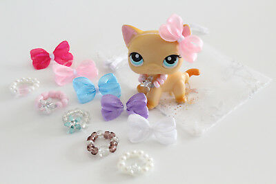 10 Mixed ❤️ Accessories Necklaces & Bows For Littlest Pet Shop LPS CAT NOT INCL