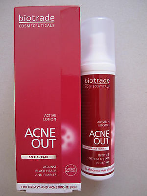 BIOTRADE Acne Out Active lotion 60 ml-Anti Acne pimples blackheads whiteheads