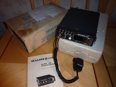 Sealine II Marine VHF Radio Telephone vintage old Boxed Untested Boat Yacht