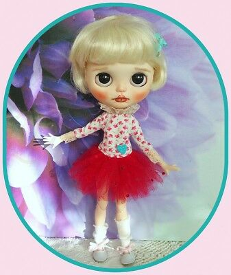 Blythe doll red Tutu outfit with socks  **  NO DOLL  **