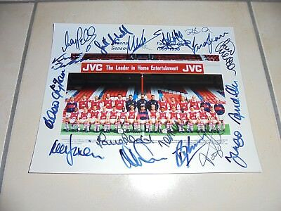 Authentic Arsenal FC Signed Team Photograph Circa. 1995