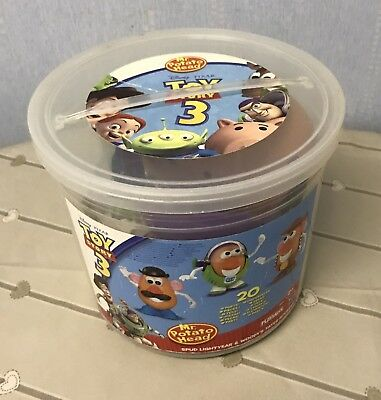 Toy Story Mr Potato Head Spud Lightyear Woody Set . In Carry Tub