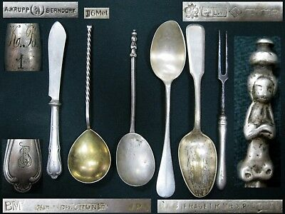 Vintage Antique Cutlery Fork Spoons Knife SILVER PLATED Different manufacturers