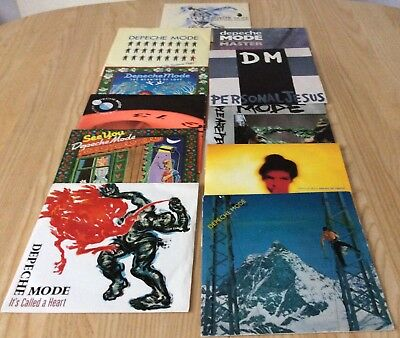 "DEPECHE MODE: Job Lot of 11 7"" singles see listing for details"