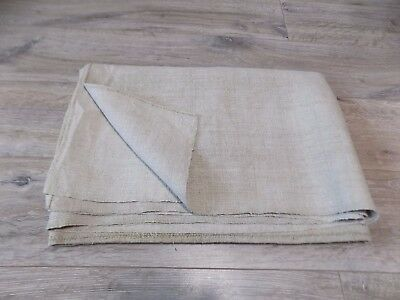 Antique Sheet Homespun Raw Hemp Fabric 19thC 1,8x1,2m Great condition Never used