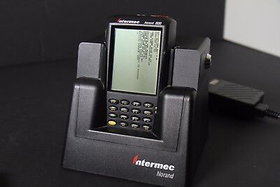 2 Intermec 600 series handheld devices and dock
