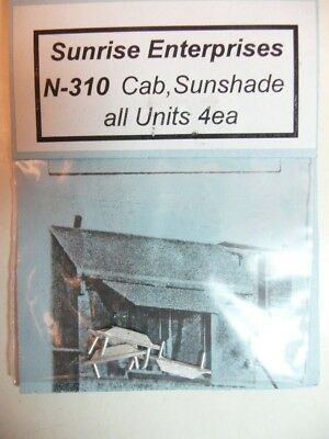 NIP N scale Sunrise Enterprises N 310 cab sunshades (4 each)