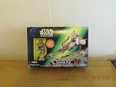 Star Wars 1997 Speeder Bike Princess Leia Organa in Endor Gear Kenner 2 in 1 BOX