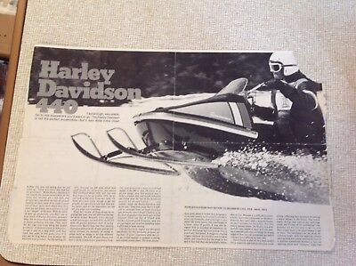 Vintage 1973 Harley Davidson Snowmobile Article from Invitation to Snowmobiling