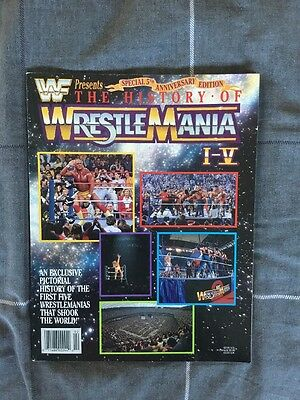 Wwe / Wwf The History Of Wrestlemania  1-V Magazine Special Signed By Jake Tonk