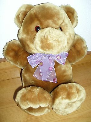 "11"" brown stuffed teddy bear (no nose)"