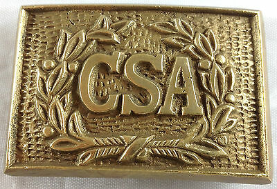 Civil War Style Csa Confederate States Of America Reproduction Brass Belt Buckle