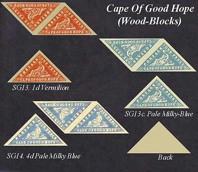 Cape of Good Hope (Wood Block) Sg13,13c,14 (forgeries)
