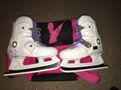 Girls Oxelo Ice Skates - Uk 13/eur 32 - Excellent Condition
