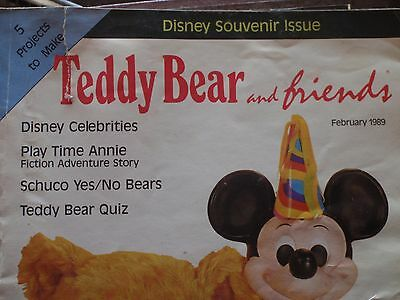 Teddy Bear and Friends, 1989, full year bound, six issues, Disney celebrities