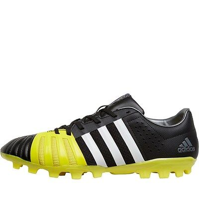 Adidas Ff80 Pro 2.0 Ag Rugby Boots - Black/white/bright Yellow – Size 8 - Bnib