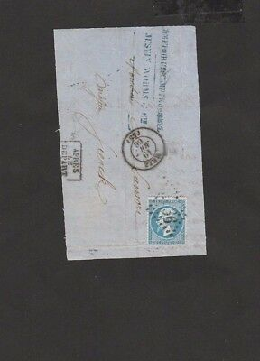 #30 France Empire Francaise Postes Stamps 20 C First paper Cover Metz - RARE $$$