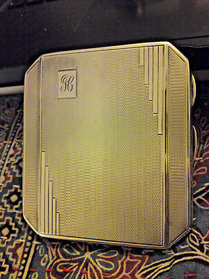 Art Deco 1933 Birm. J Gloster. M/grmed Cigarette Case. 127 grms. Excellent Cond.