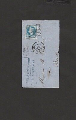 #31 France Empire Francaise Postes Stamps 20 C First paper Cover Metz - RARE $$$