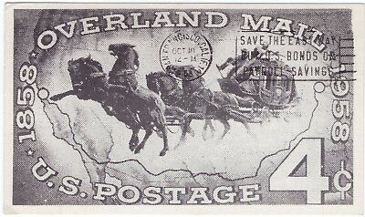 OVERLAND MAIL STAGECOACH 1858 - 1958 Maxi Card