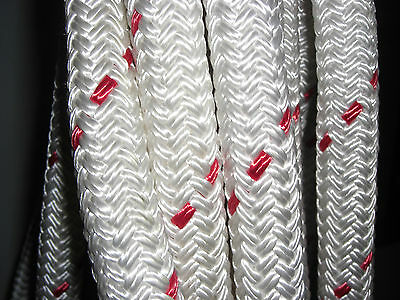 """46' of 1-1/16"""" Amsteel 2 Strong Dyneema Core Tough Polyester Cover Low Stretch"""