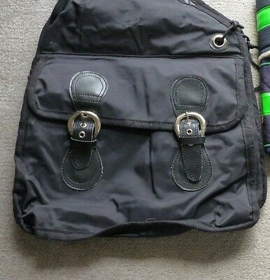 Large saddle bag with two  buckle pockets
