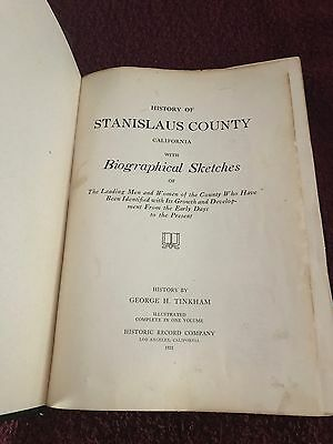History of Stanislaus County California with Biographical Sketches