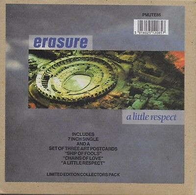 ERASURE A Little Respect LIMITED EDITION COLLECTORS PACK with 3 artcards PMUTE85